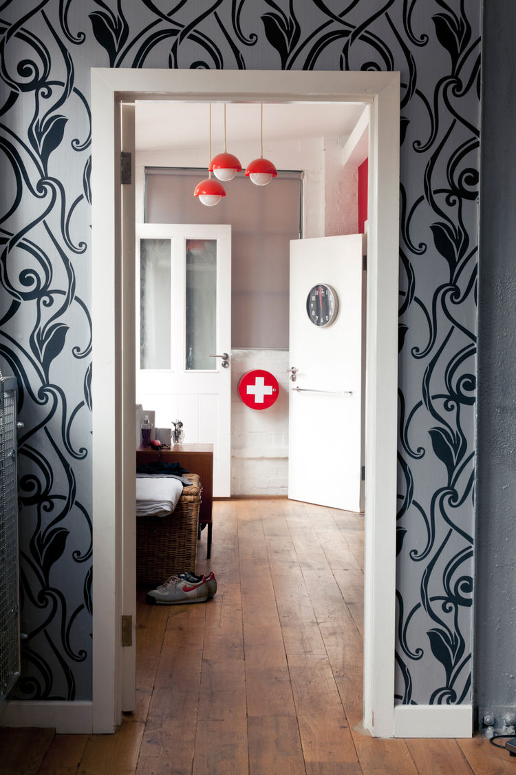 Hallway in modern renovation in London