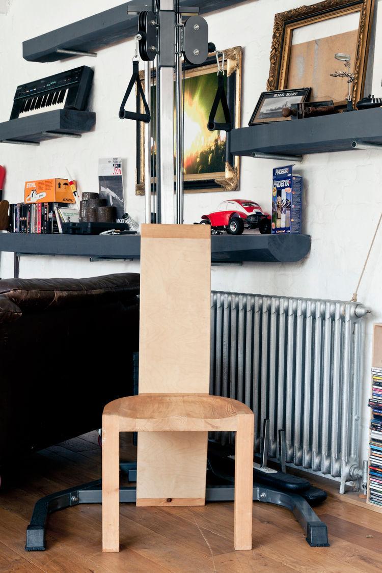 Blonde wood chair