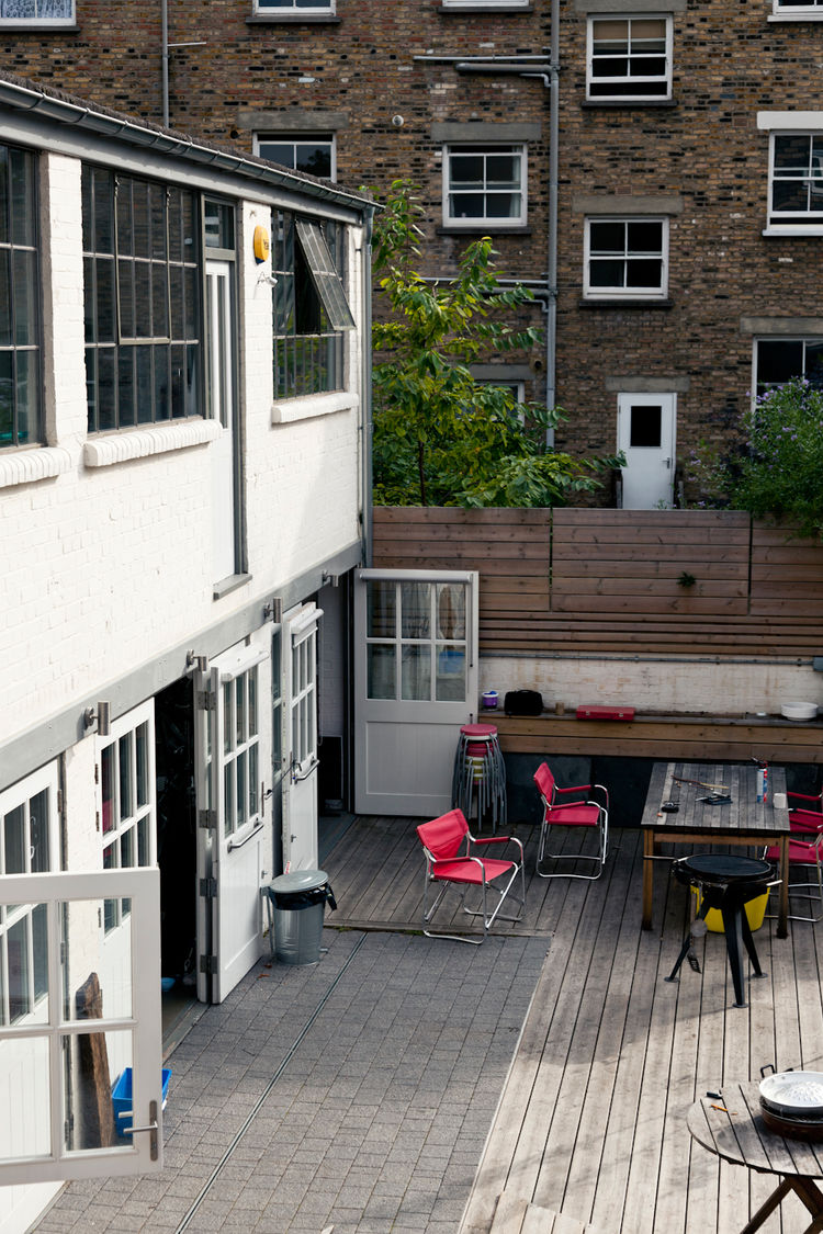 Patio of modern renovation in London