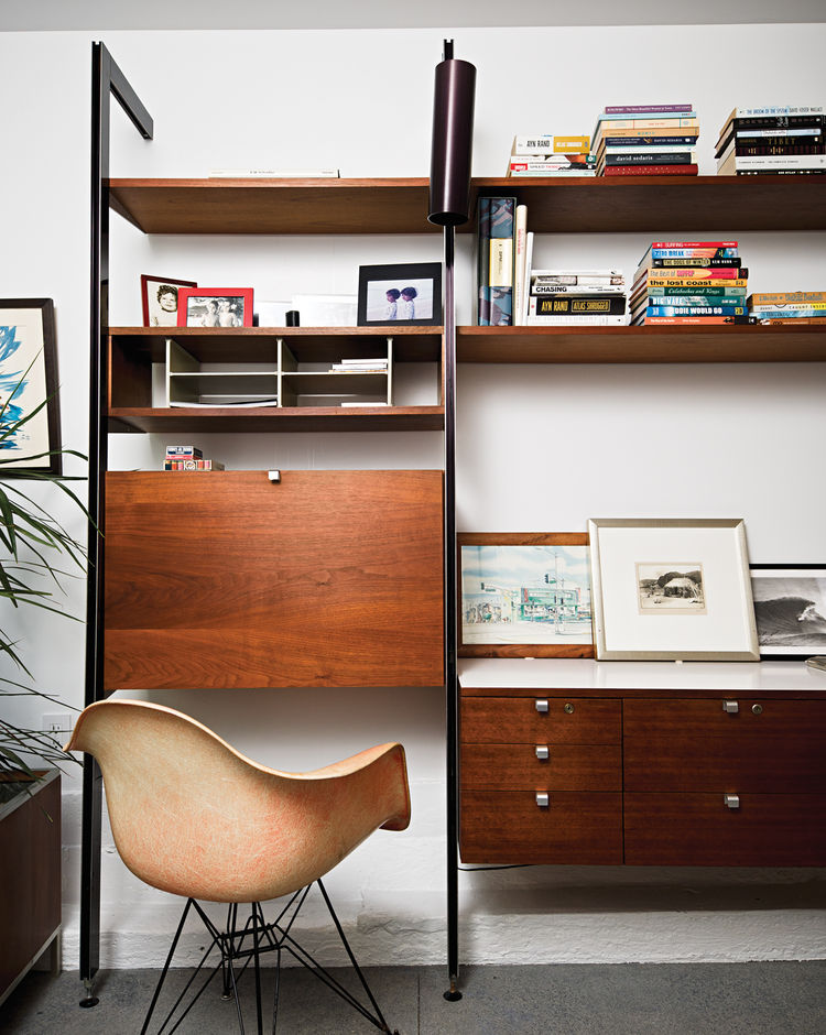 Original Eames shell chair in media room
