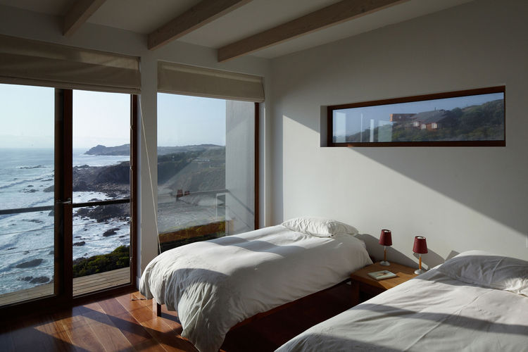 Guest room with a beach view