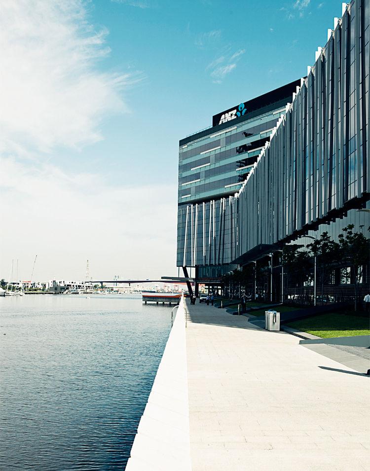 ANZ Bank exterior in Melbourne, Australia