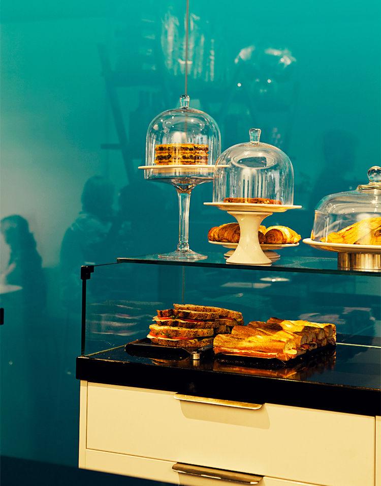 Pastries and sandwiches at Liaison Café in Melbourne, Australia