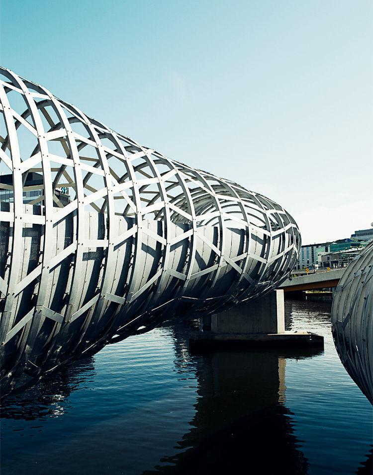 The Webb Bridge in Docklands by Denton Corker