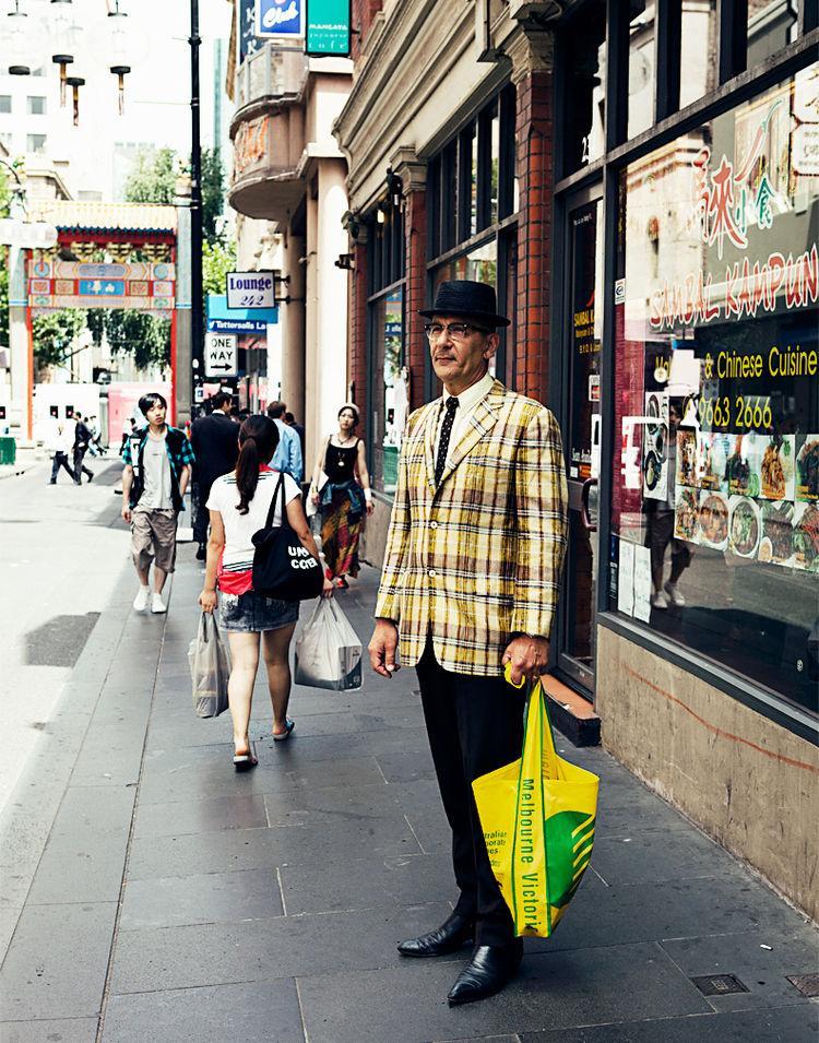 Bruce Rook in Chinatown Melbourne, Australia