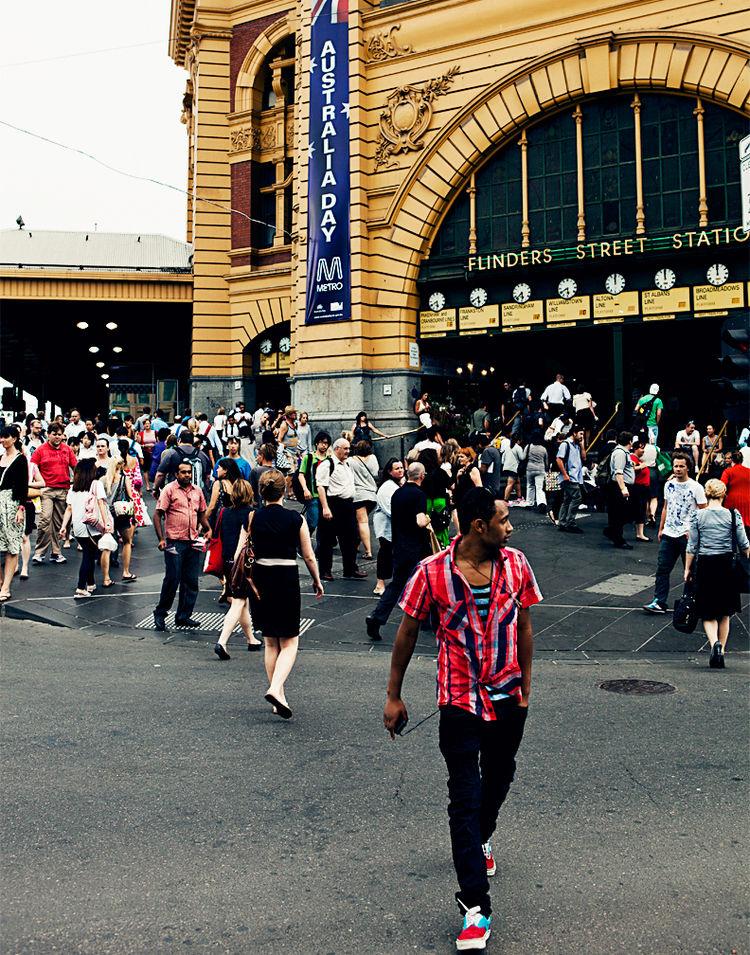 Flinders Street Station in Melbourne, Australia