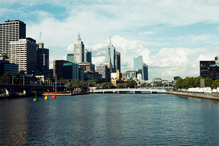 Kings Way Bridge in Melbourne, Australia view