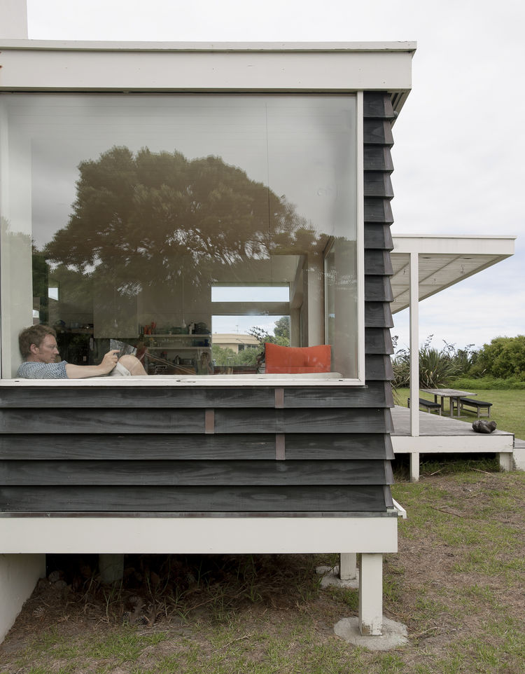 Glassy pavilion outdoor view
