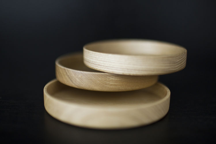 Natural grain wood trays