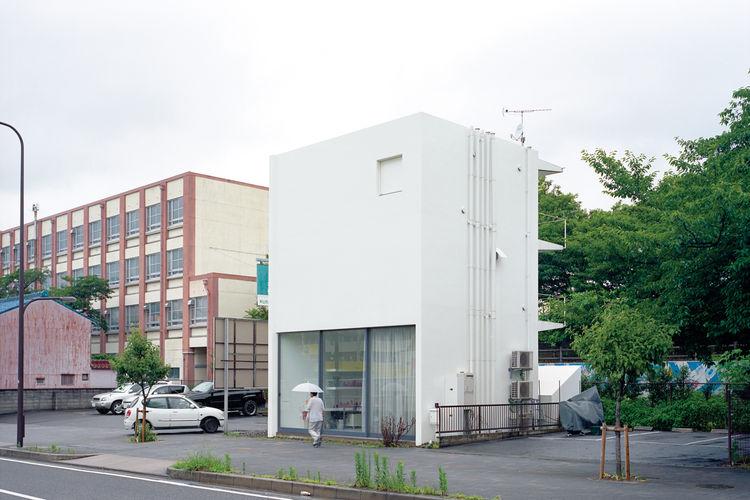Modern box house in Nagoya, Japan