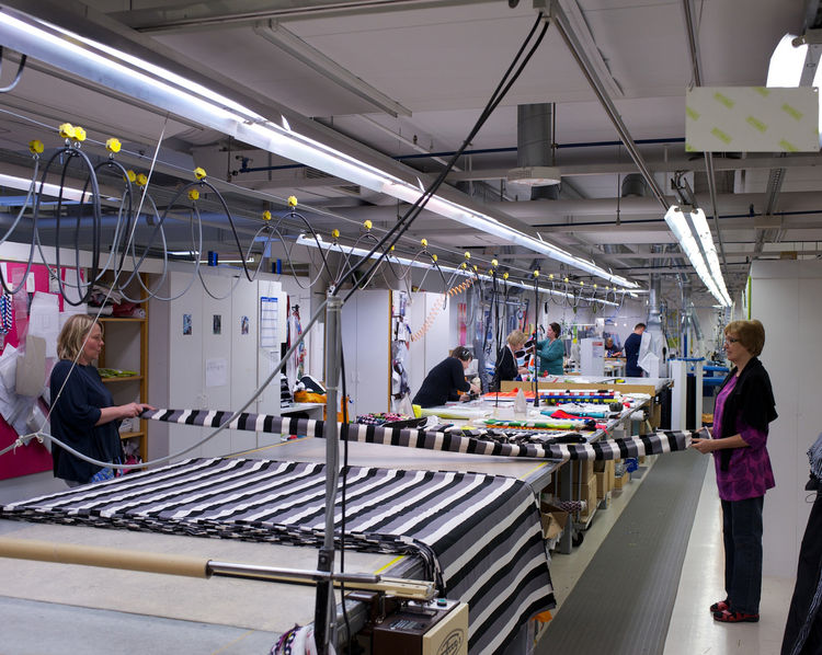 Post-production room at the Marimekko Factory