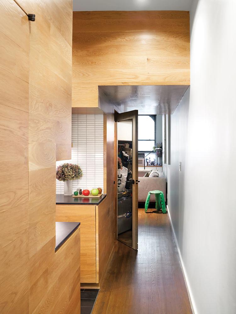 Narrow kitchen hallway