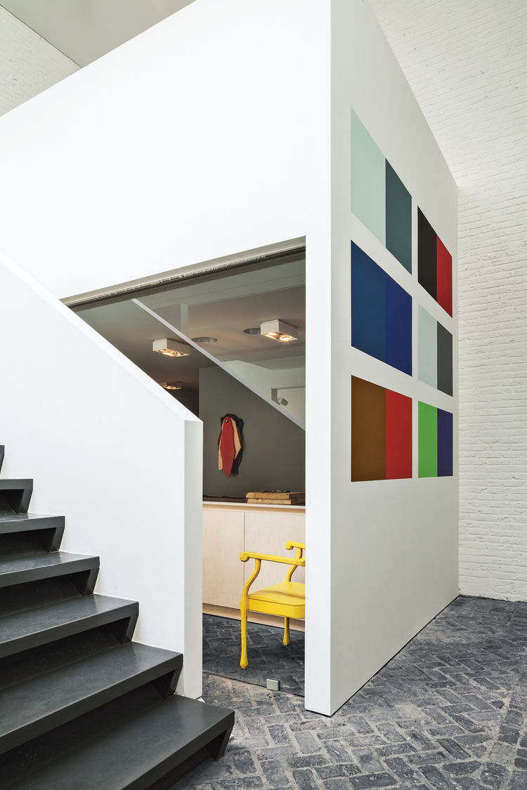 Open stairway by home office