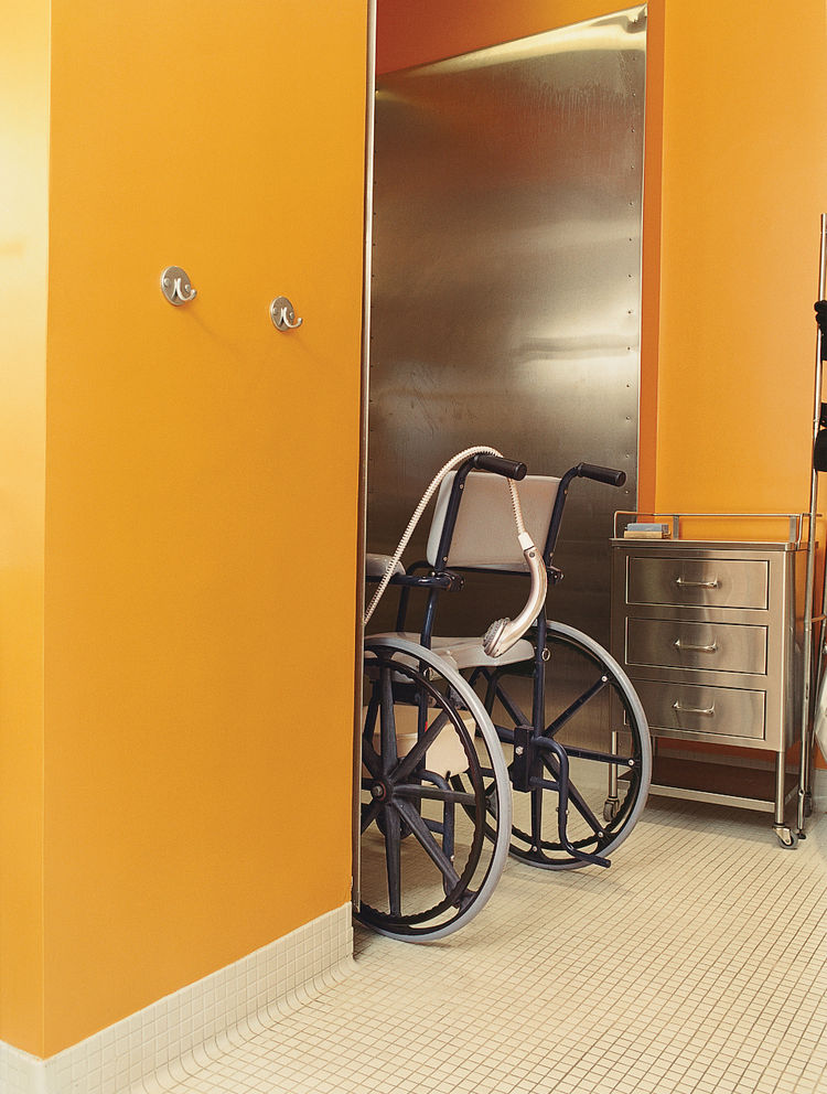 Architects Andy Bernheimer and Jared Della Valle, of Brooklyn's Della Valle Bernheimer, came up with creative solutions to help David Carmel, who was paralyzed from the waist down in a driving accident, move around comfortably in his wheelchair throughout