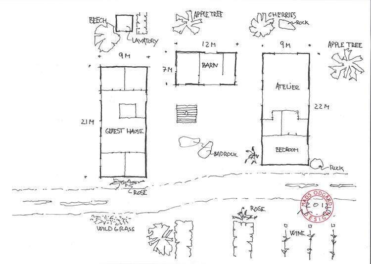 Modern 18th-century farmhouse renovation floor plan