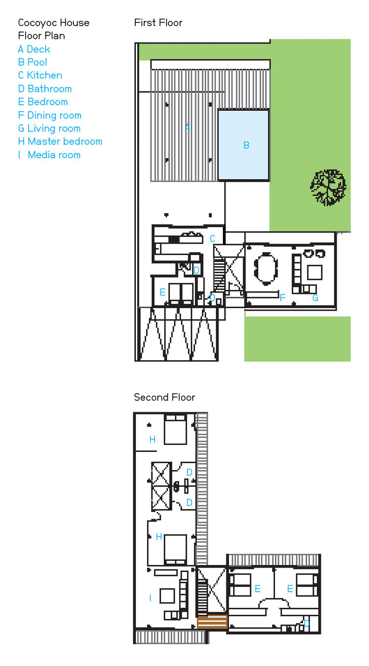 Modern small box home in Mexico floor plan