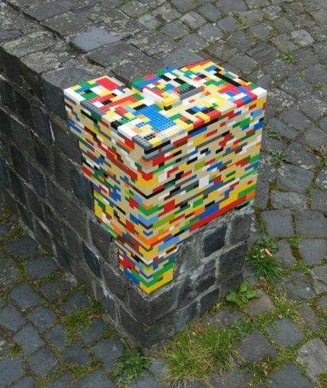 lego bombing corner wall