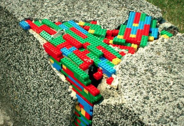 Lego bombing