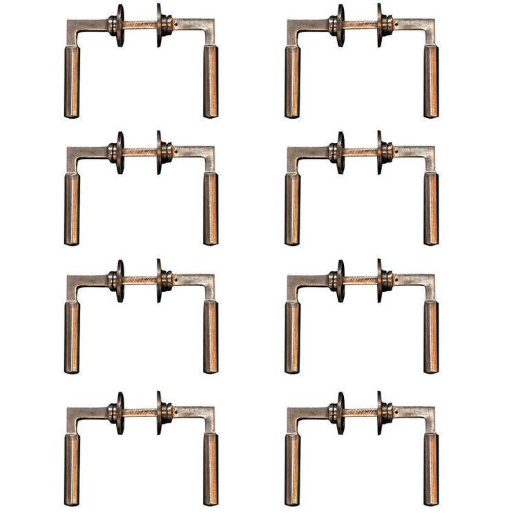 "Walter Gropius Door Handles<br /><br /> Germany, 1920s/1930s<br /><br /> ""The famous door-handle designed in 1923 by Bauhaus master Walter Gropius is one of the great icons of modernism."""