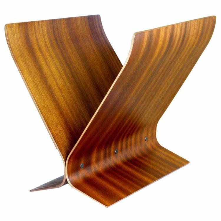 "Bent rosewood pieces, layered and finished with a mahogany veneer, lend this piece a warm richness that hasn't faded a bit since it was constructed in the 1960s. For more information, contact <a href=""http://www.assemblageltd.com/html/index.html"">Assembla"