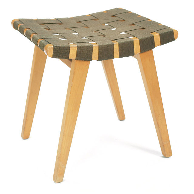 """The Risom Stool, <a href=""""http://www.dwr.com/product/furniture/living/jens+risom+collection/risom-stool-walnut.do"""">$348</a>"""