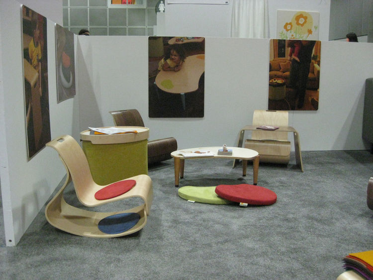 """The mod rocker and lima play table, part of the <a href=""""http://www.iglooplay.com/"""">Igloo Play</a> collection by Lisa Albin Design. The collection is eco-friendly, and made in the USA."""