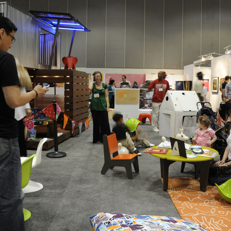 """With a multitude of hands-on activities and displays geared for children of all ages, the Modern Family Zone bustled with creativity all weekend.  <a href=""""http://coochicoos.com/"""">Coochicoos</a>, a website dedicated to reporting """"on the growing modern des"""