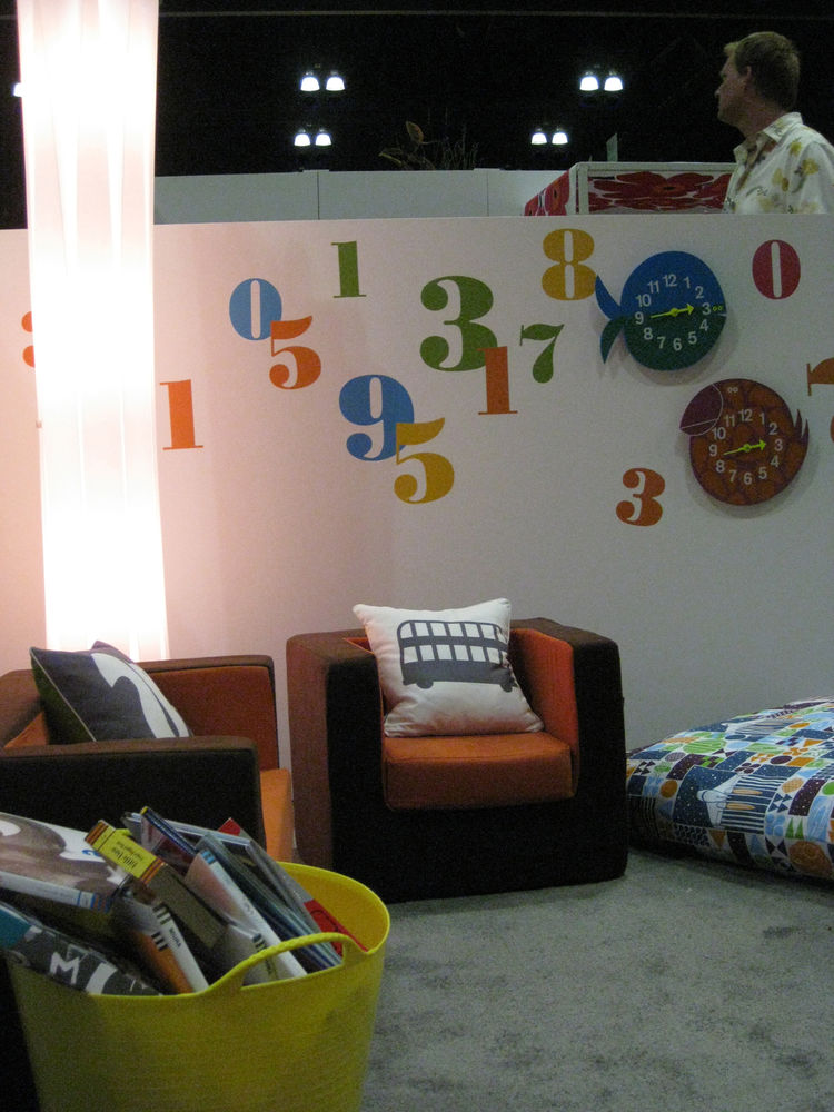 """The Reading Room, by <a href=""""http://coochicoos.com/"""">Coochicoos</a>, included books for giveaway from <a href=""""http://www.chroniclebooks.com/"""">Chronicle</a>, kids' sofa and chair from <a href=""""http://www.montedesign.net/"""">Monte Design</a>, pillows from <"""