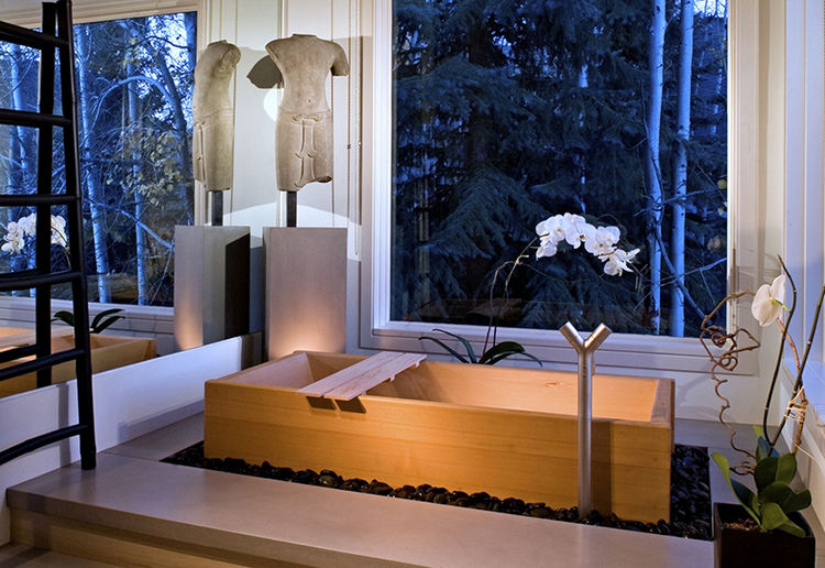 Wooden tub by Zen BathWorks