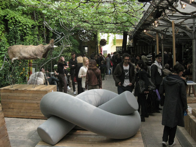 "At Via Matteo Bandello 14, behind a nondescript facade, you'll find one of Milan's best curated design spaces, the always lovely <a href=""http://www.rossanaorlandi.com/"">Spazzio Rossana Orlandi</a>. During this year's fair the exterior courtyard played ho"