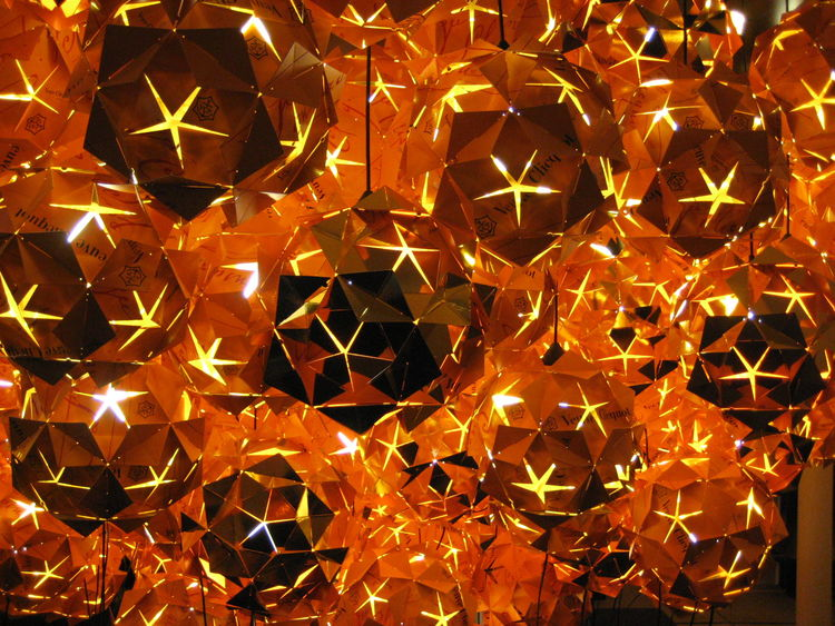 Tom Dixon also designed these lights out of Veuve Clicquot boxes. They were beautiful, and undoubtedly much better looking than a collection of old Franzia.