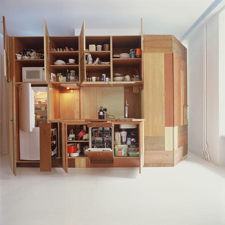 Inside, the Hardbox contains a kitchen, toilet, shower, bathtub, foldout guest bed, and storage.