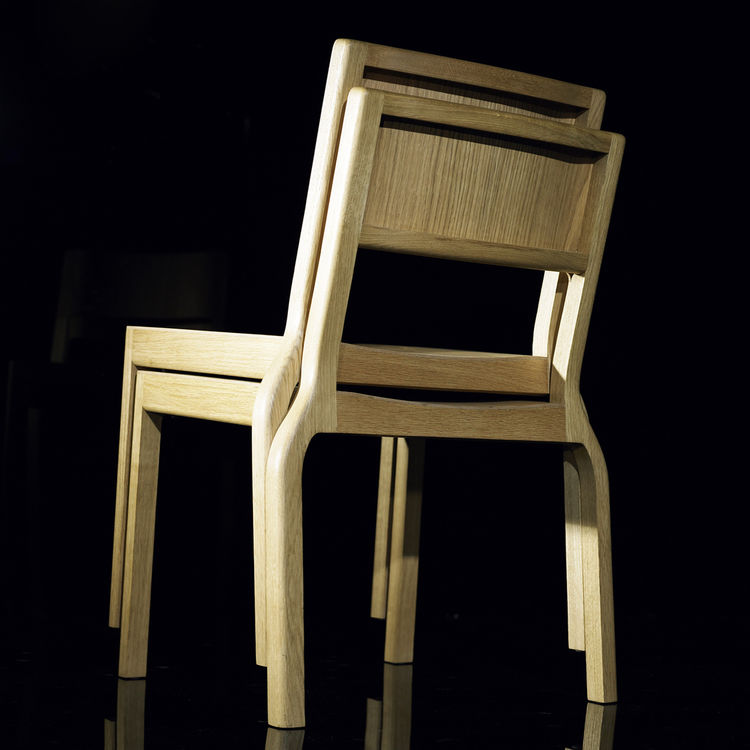 "<strong>The Timber Stacker chair</strong> by <a href=""http://www.deadgoodltd.co.uk/"">Deadgood</a>"