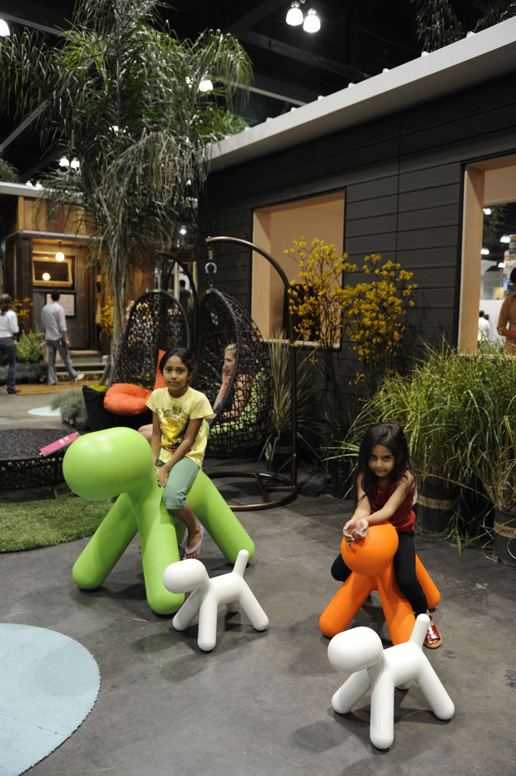 """<a href=""""http://www.magismetoo.com/Site/HomePage.php"""">The Magis Puppy</a>, by Eero Aarnio, is a big hit with the many children in attendance at Dwell on Design."""