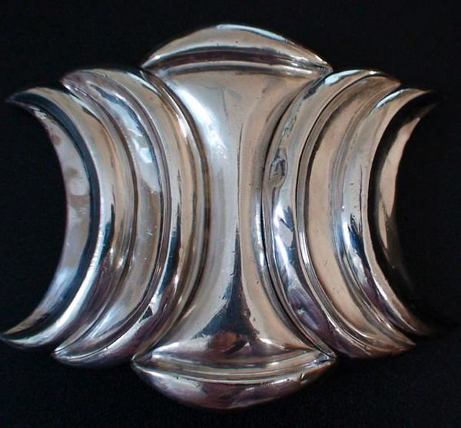 <strong>Antonio Pineda Belt Buckle</strong><br /> Under the guidance of silver genius William Spratling, Antonio Pineda created a body of work out of his hometown of Taxco that could easily be considered the most impressive volume of Mexican silver pieces