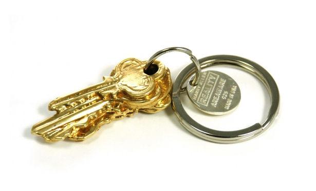 5 Key Keychain in 14K Gold-Plated Brass by Harry Allen