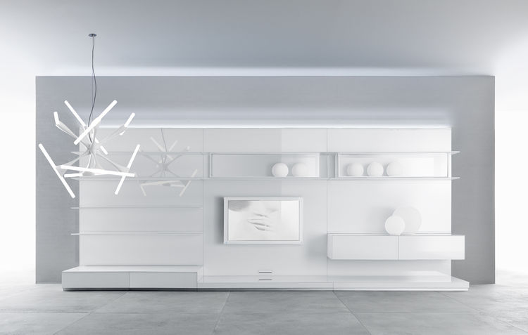 Abacus Living system by Giuseppe Bavuso for Rimadesio. Shelving and storage system.