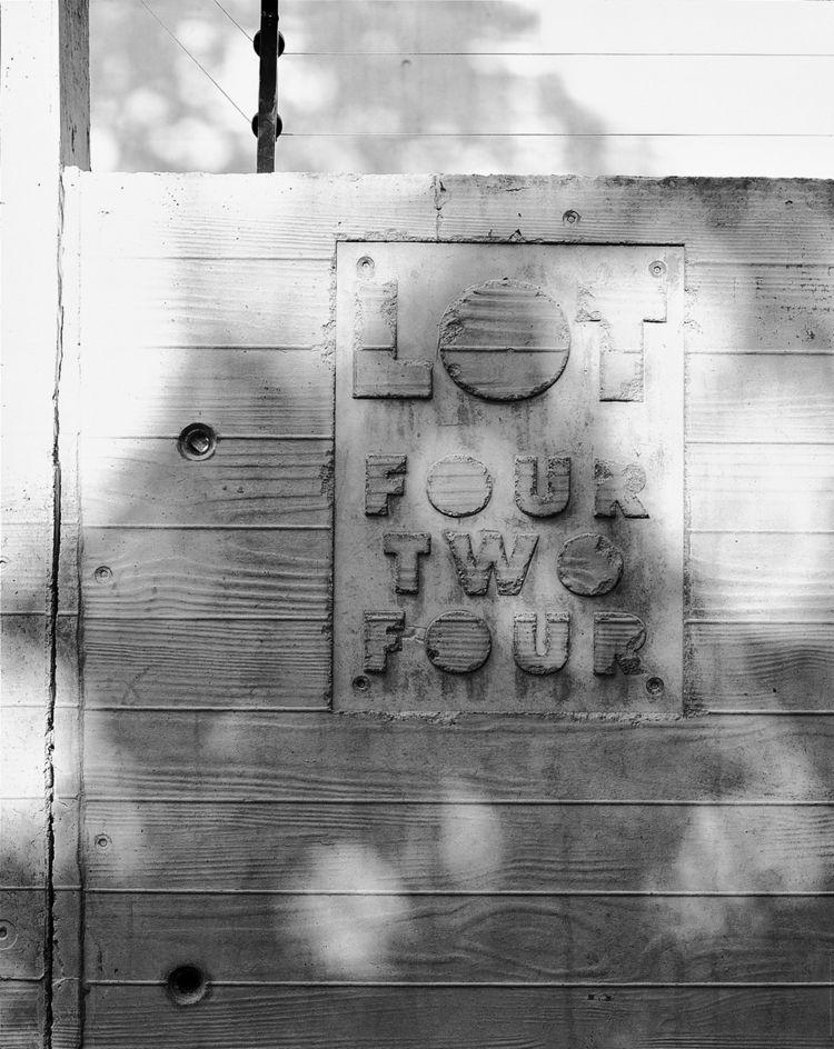 concrete lettering
