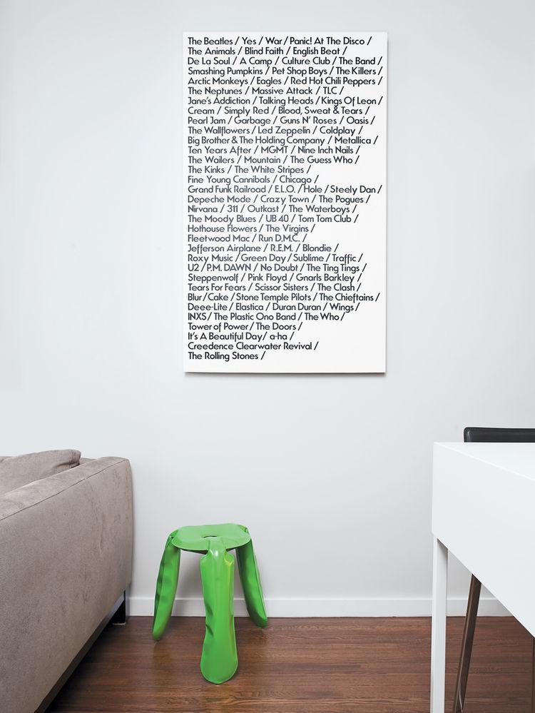 hanging typographic wall art