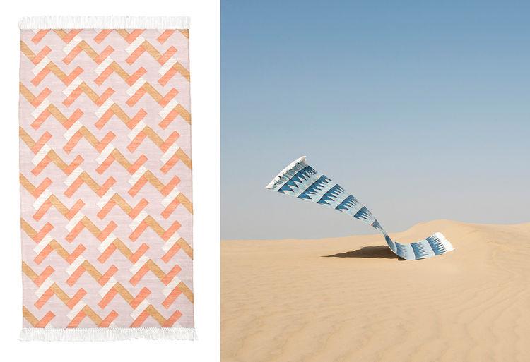 Brick Pastel rug by Oyyo