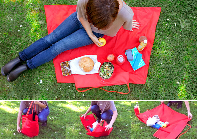 Picnic Bag Blanket by Yield