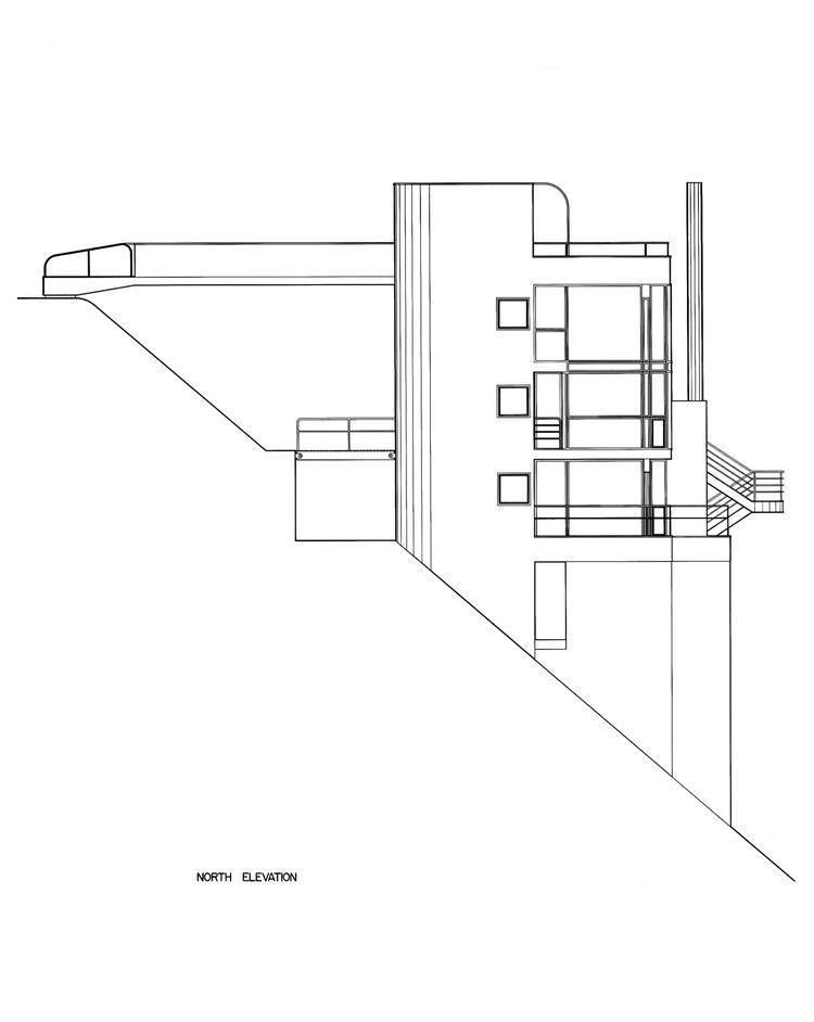 Original illustrations of the slope of the Douglas House by Richard Meier