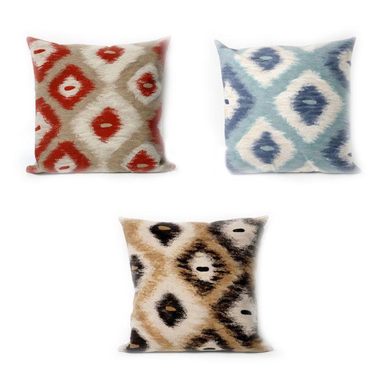 Ikat Diamonds Pillows by Liora Manne