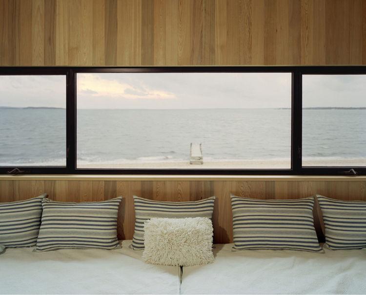Ocean view in modern home.