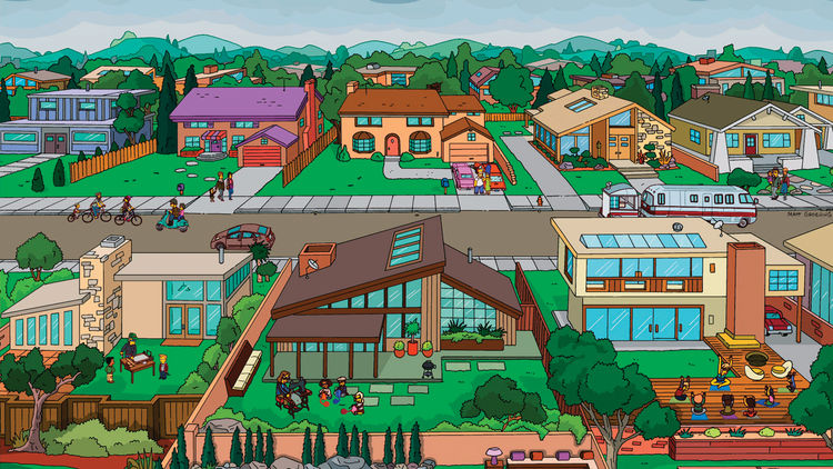 Dwell Magazine on The Simpsons