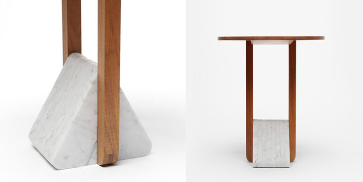 Foundation Table with Triangular Base by Fort Standard