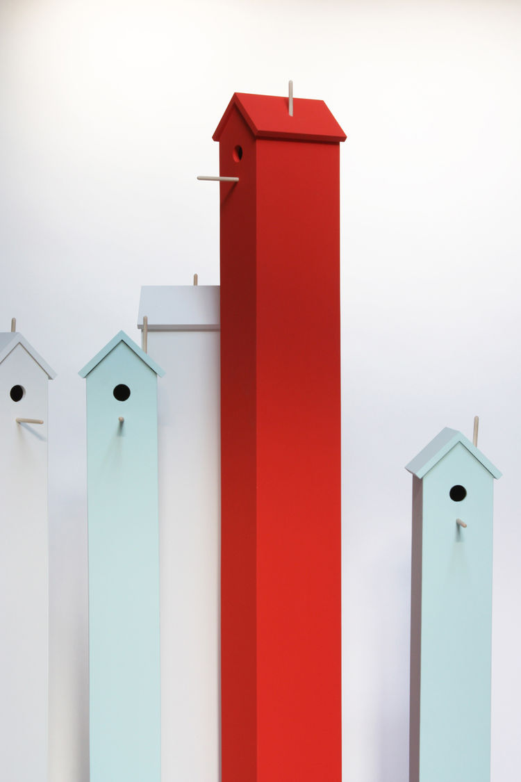 Attic birdhouses by Chad Wright