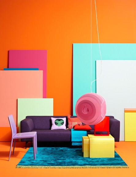 Fluorescent living room by Jonas von der Hude
