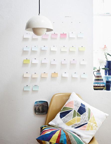 Color swatch calendar by Jonas von der Hude
