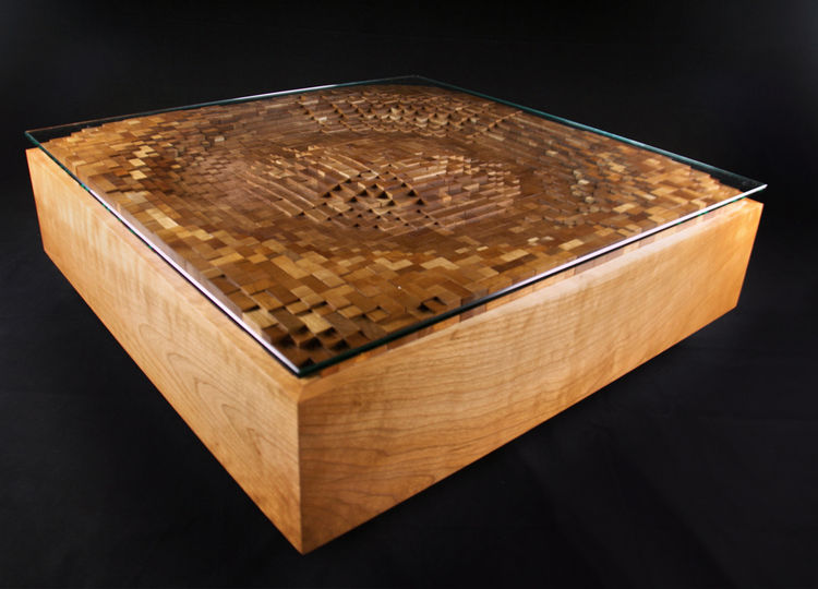 Ripple Coffee Table by EndGrain